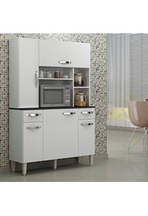 Armário De Cozinha 5 Portas Safira Sallêto Móveis Branco