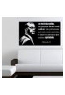 Adesivo De Parede Frase Malcolm X Mod. 1 - G 60X105Cm