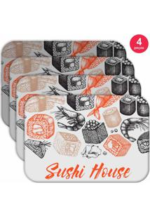 Jogo Americano Love Decor Wevans Sushi House Kit Com 4 Pçs