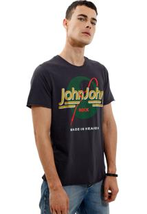 Camiseta John John Rg Cable Rocker Malha Preto Masculina Tshirt Rg Cable Rocker-Preto-Gg