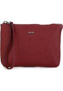 Bolsa Anacapri Clutch Nec Eco Veneza Bag Feminina - Feminino-Vermelho Escuro