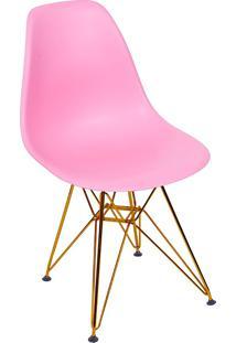 Cadeira Com Base Em Cobre 1102-Or Design - Rosa