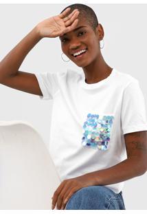 Camiseta Cativa Bordada Branca - Branco - Feminino - Algodã£O - Dafiti