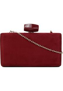 Bolsa Shoestock Clutch Evening Veludo Feminina