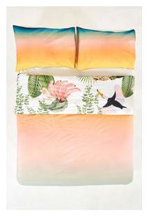 Edredom Fofo Verao Tropical - Multicolorido - U