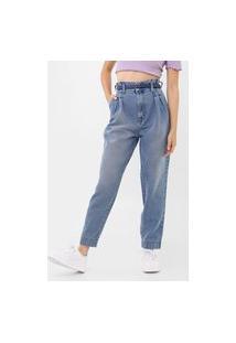 Calça Jeans Colcci Reta Clochard Azul