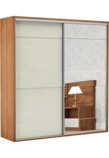 Guarda Roupa Tw202E 2 Portas Com Espelho Freijó/Off White