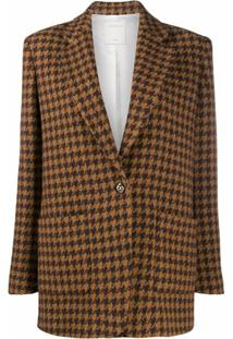 Sandro Paris Blazer Xadrez - Brown