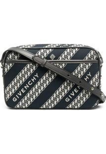 Givenchy Bolsa Estruturada Bond Com Padronagem De Corrente - Azul