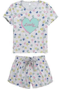 Pijama Malwee 1000073566 B609B-Cinza-Claro