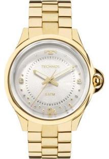 Relógio Feminino Technos Crystal 2039Bm/4K Pulseira Aço Dourada - Feminino-Dourado