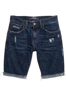 Bermuda John John Classica Minot 3D Jeans Azul Masculina (Jeans Medio, 40)