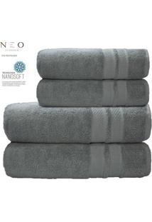 Toalha De Banho Neo Allure- Cinza Claro- 70X140Cm