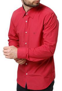 Camisa Manga Longa Masculina Rosa Pink