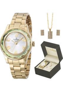 8c83907d52a Eclock. Relógio Tamanho Grande Kit Dobrável Analógico Com Colar Feminino  Magnum Champion ...