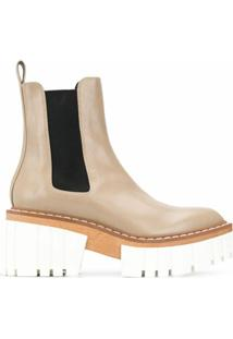 Stella Mccartney Ridged-Platform Ankle Boots - Neutro