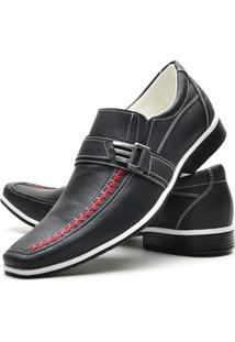 Sapato Social Masculino Florense - Masculino-Preto