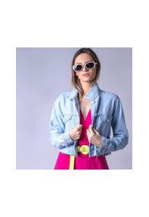 Jaqueta Starbox Jeans Botão Forrado Azul Claro