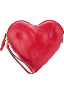 Anya Hindmarch Clutch 'Heart' De Couro - Vermelho