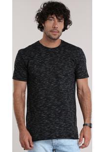 Camiseta Longa Preta