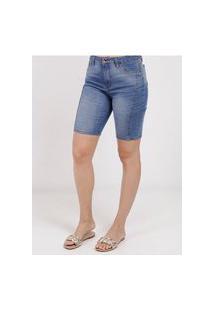 Bermuda Jeans Feminino Azul