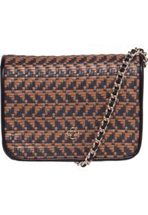 Bolsa Capodarte Pequena Shoulder Bag Preto/ Marrom