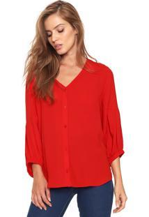 Camisa Maria Valentina Pregas Vermelha