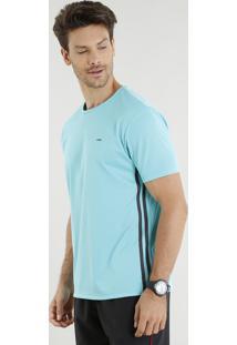 Camiseta Masculina Esportiva Ace Básica Manga Curta Gola Careca Verde