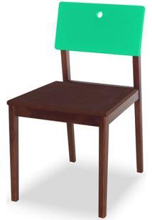 Cadeira Flip Cor Cacau Com Encosto Verde Anis - 31137 - Sun House
