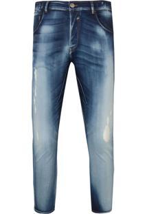 Calça John John Mc Rock Perugia Jeans Azul Masculina (Jeans Medio, 42)