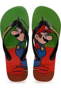 Sandália Havaianas Mario Bros