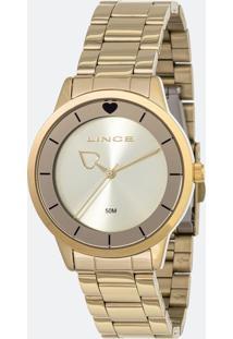 Kit Relógio Feminino Lince Lrg4572L-Kf83C1Kx Analógico 5Atm + Conjunto Semijóia