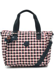 Bolsa Kipling Handbags Amiel Meta Azul Marinho