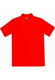 Camisa Pau A Pique Polo - Masculino-Coral