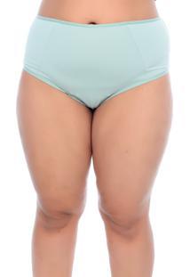 Calcinha Vislumbre Plus Size Microfibra Meio Fio Verde Chã¡ - Verde - Feminino - Dafiti