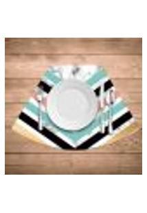 Jogo Americano Para Mesa Redonda Wevans Geométrico Marble Kit Com 4 Pçs