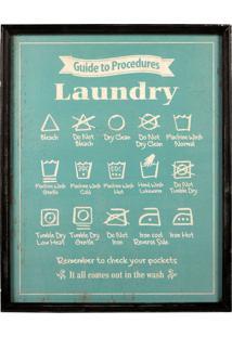 Quadro Decorativo De Parede Laundry Com Moldura