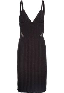 ac5bd5f465 ... Vestido Cutting Tule Animale - Preto