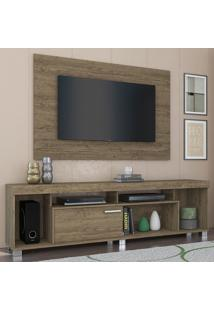 Rack Com Painel Para Tv 1 Porta Tomaz 702023 Rijo - Madetec