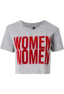 Camiseta John John Women Malha Algodão Cinza Feminina (Cinza Mescla Claro, M)