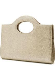 Bolsa De Mão Hendy Bag Glitter Feminina - Feminino-Dourado