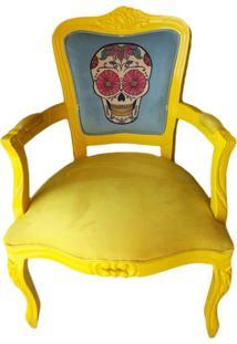 Poltrona Luis Xv - Amarela - Tommy Design