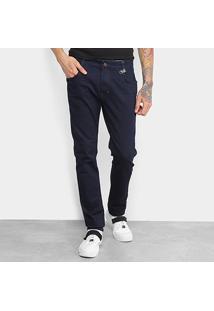 Calça Jeans Skinny Coca-Cola Lisa Masculina - Masculino-Jeans
