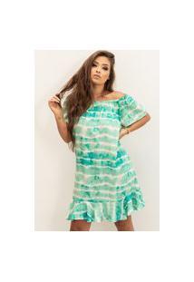 Vestido Ciganinha B'Bonnie Tamara Tie Dye Verde