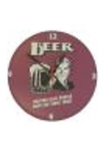 Relógio Em Vinil Cerveja