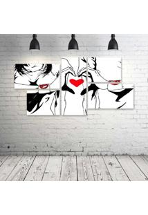 Quadro Decorativo - Love-Pen-Art - Composto De 5 Quadros