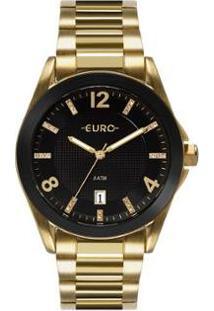 Relógio Euro Color Mix Shine Feminino - Feminino-Dourado