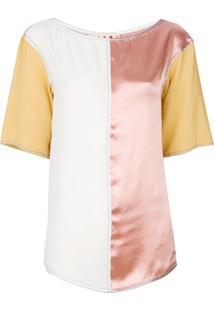 Marni Blusa Color Block - Rosa