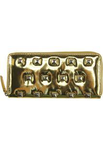 Carteira Com Rebites- Douradaschutz