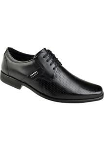 Sapato Social Cadarço Ferracini Bragança Masculino - Masculino-Preto